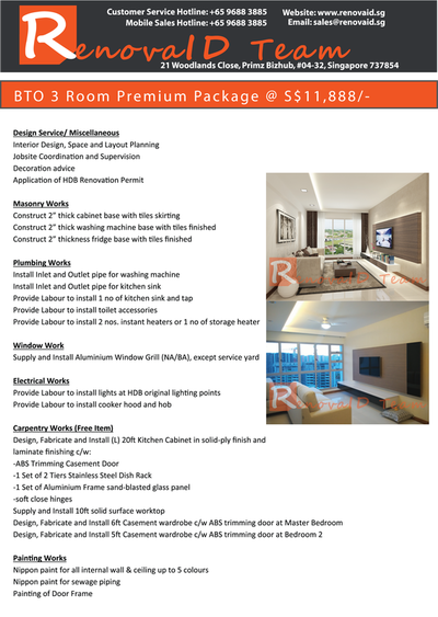 Renovaid Team BTO Premium Renovation Package Renovaid