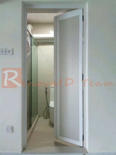 Slide And Swing Toilet Doors For Hdb Resale Flat At