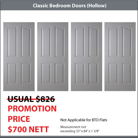 4 Classic Bedroom Doors