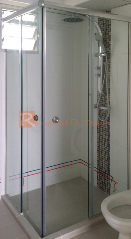 Glass Top Hung Straight Shower Screen Renovaid Team
