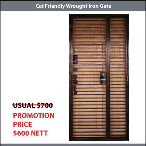 Cat Friendly Wrought Iron Gate