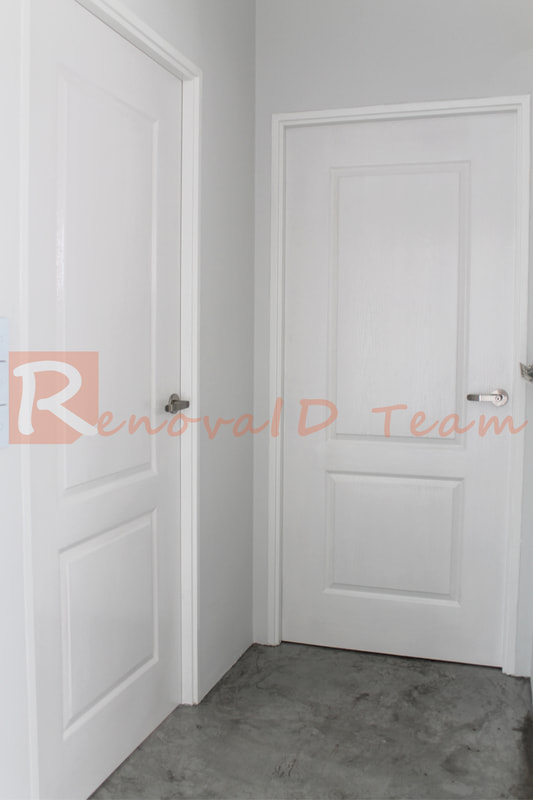 Pause & Set of 3 Classic Door for Bedroom of HDB Re-Sale Flat at Factory ...