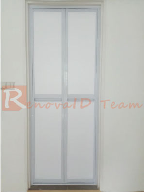 Brilliant Aluminium Bi Fold Toilet Door For Hdb Flat From 169 Nett Home Interior And Landscaping Ologienasavecom