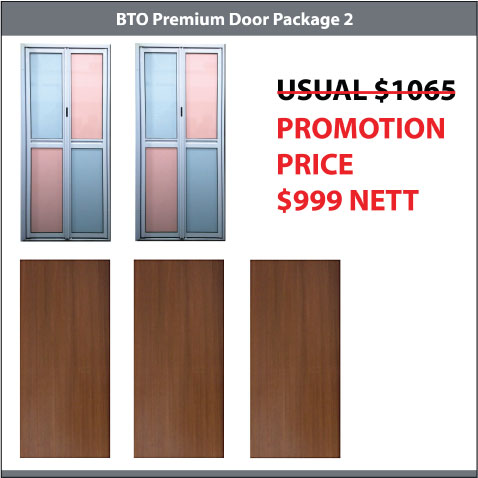 Bedroom and Toilet Door Package