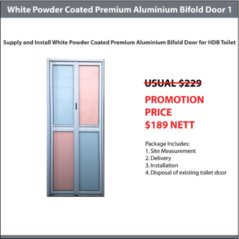 White Powder Coated Premium Aluminium Bifold Door