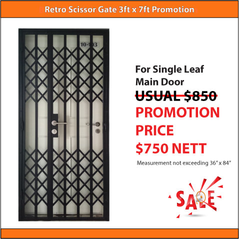 Retro Scissor Gate