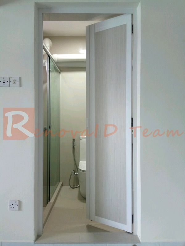 Slide And Swing Toilet Door Promotion For Hdb Bto Flat At Factory Price Renovaid