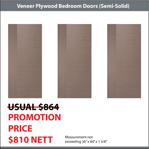 Veneer Plywood Doors For HDB Flats