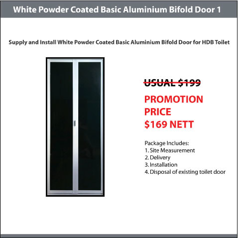 White Powder Coate Basic Aluminium Bifold