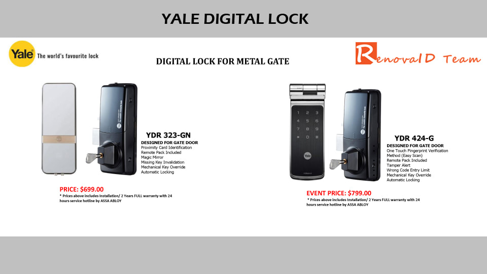 Yale Digital Lock - Renovaid Team